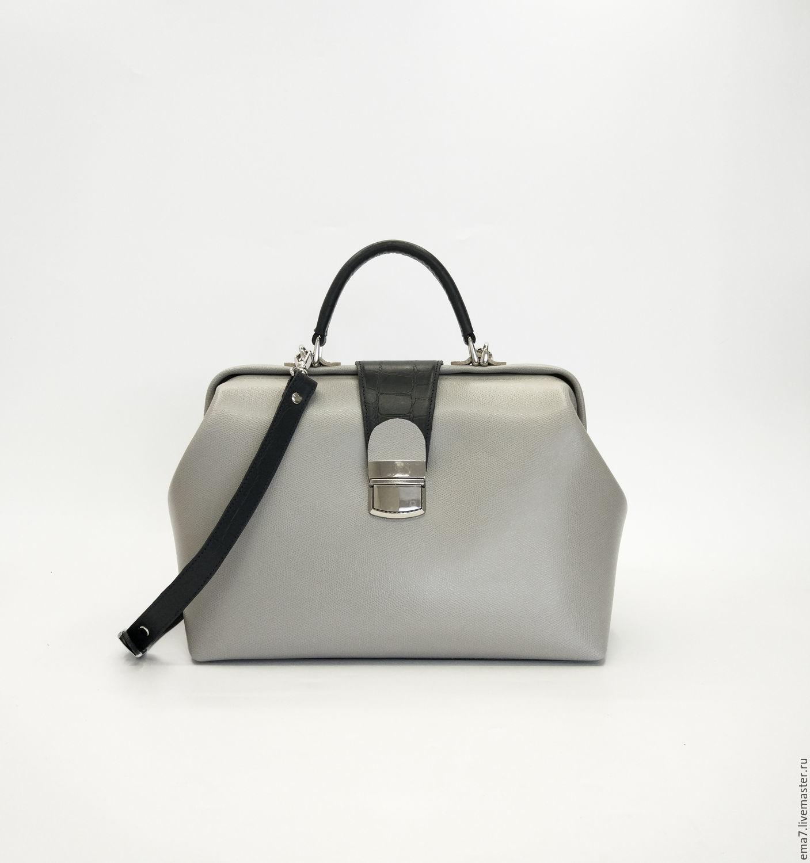 Саквояж M серый, Женские сумки, Санкт-Петербург, Фото №1