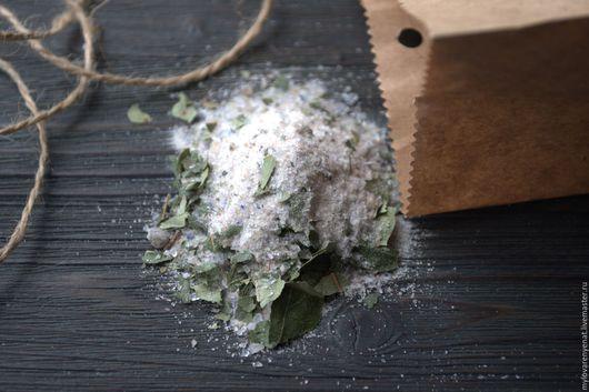 """Соль для ванны ручной работы. Ярмарка Мастеров - ручная работа. Купить Соль для ванны """"Деревенская"""". Handmade. Зеленый, для ванной, соль"""