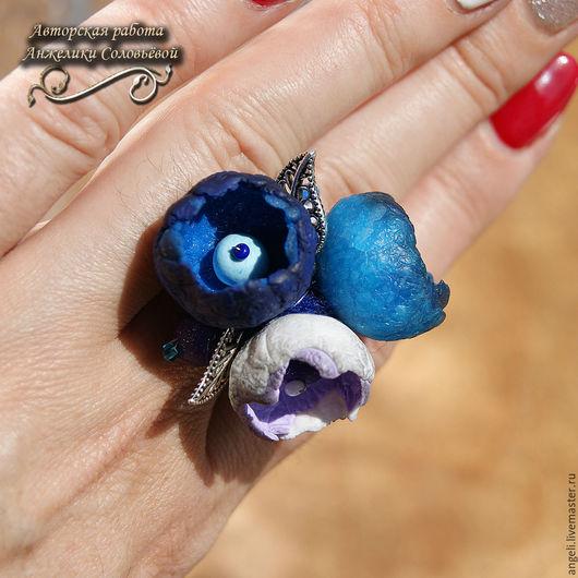 """Кольца ручной работы. Ярмарка Мастеров - ручная работа. Купить """"Бутоны Аквамарин"""" кольцо. Handmade. Кольцо, стиль"""