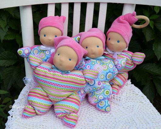 Вальдорфская игрушка ручной работы. Ярмарка Мастеров - ручная работа. Купить Куколка, игрушка, погремушка.. Handmade. Салатовый, первая игрушка