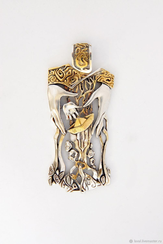 Silver pendant 'Ship', Pendants, Kurgan,  Фото №1
