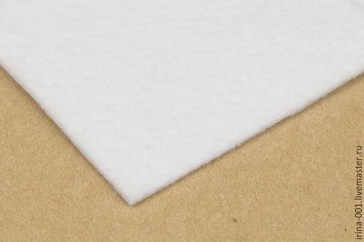 Шитье ручной работы. Ярмарка Мастеров - ручная работа. Купить Наполнитель клеевой односторонний, 350г/м. Объемный.. Handmade. Белый, утеплитель