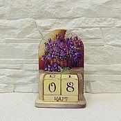 Канцелярские товары handmade. Livemaster - original item Perpetual calendar Snowdrops. Handmade.