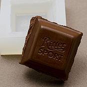 Материалы для творчества ручной работы. Ярмарка Мастеров - ручная работа Молд силиконовый Шоколадка 24х24х10 мм. Handmade.