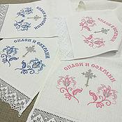 Свадебный салон handmade. Livemaster - original item A set of towels on the icon for blessings (2 EA.). Handmade.