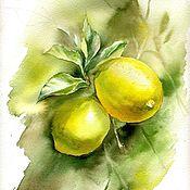 Картины и панно ручной работы. Ярмарка Мастеров - ручная работа Лимоны. Handmade.