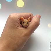 Куклы и игрушки ручной работы. Ярмарка Мастеров - ручная работа Крошка-мышонок.. Handmade.