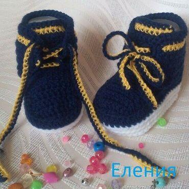 Обувь ручной работы. Ярмарка Мастеров - ручная работа Пинетки-кеды под джинсу. Handmade.
