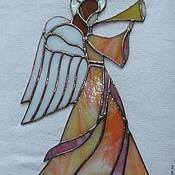 Для дома и интерьера ручной работы. Ярмарка Мастеров - ручная работа Ангел хранитель-витражный. Handmade.