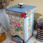 Для дома и интерьера ручной работы. Ярмарка Мастеров - ручная работа В стиле Green Gate. Короб для чая. Handmade.