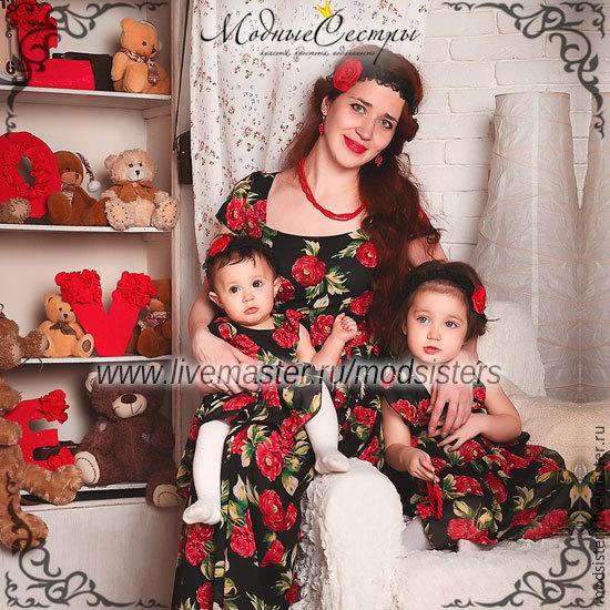 Family look (одинаковые платья для мамы и дочки) Арт.118, Платья, Нижний Новгород,  Фото №1