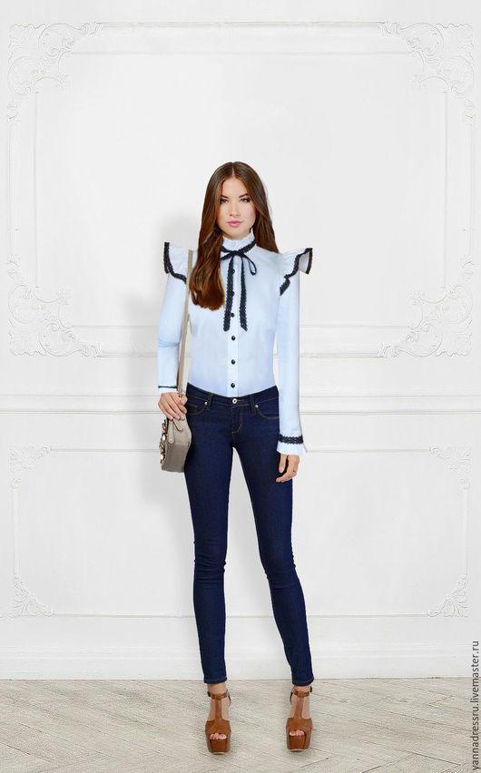 """Блузки ручной работы. Ярмарка Мастеров - ручная работа. Купить Блуза  """"Noblewoman"""". Handmade. Белый, однотонный, ретро, топ"""