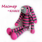 Материалы для творчества handmade. Livemaster - original item Master-class of crochet toy Rabbit Polosatkin. Handmade.