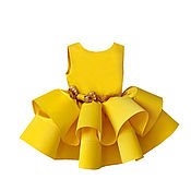 """Платье ручной работы. Ярмарка Мастеров - ручная работа Платье для девочки """"Желтые Мимозы"""". Handmade."""