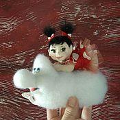 Куклы и игрушки ручной работы. Ярмарка Мастеров - ручная работа Девочка Лили и ее облачко. Handmade.