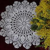 Для дома и интерьера handmade. Livemaster - original item Decorative napkins: Napkin round No. №29. Handmade.