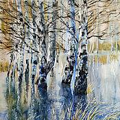 Картины и панно handmade. Livemaster - original item Painting watercolor Spring water. Handmade.