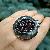 Украшения handmade. Livemaster - original item Ring silver. Ring with garnets. Ring Garnet.. Handmade.