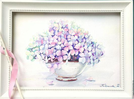 Акварель Нежность Купить картину акварелью Купить картину в подарок Купить картину в Туле