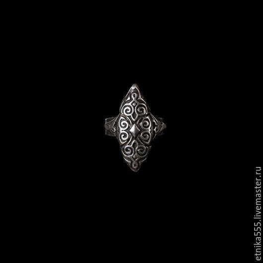 Кольца ручной работы. Ярмарка Мастеров - ручная работа. Купить узкое кольцо в этническом восточном стиле с цветочным орнаментом. Handmade.