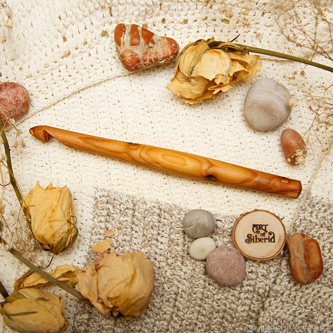 Деревянный Крючок для вязания 11 мм  Вишня Крючки из дерева #K56, Инструменты, Новокузнецк, Фото №1