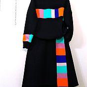 Костюмы ручной работы. Ярмарка Мастеров - ручная работа Костюм с юбкой, цветные вставки. Handmade.