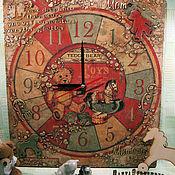 Часы настенные в детскую ПЛЮШЕВЫЙ МИШКА