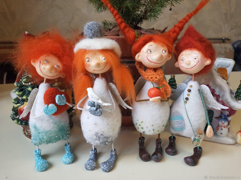Рыжики новогодние, Интерьерная кукла, Санкт-Петербург,  Фото №1