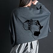 Одежда handmade. Livemaster - original item Women`s elongated blouse with long sleeves - TP0482GE. Handmade.