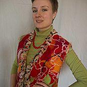 Одежда ручной работы. Ярмарка Мастеров - ручная работа Жилет валяный Красный 4. Handmade.