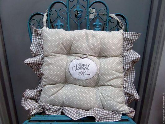 """Текстиль, ковры ручной работы. Ярмарка Мастеров - ручная работа. Купить Подушка на стул """"Уютный дом"""". Handmade. Подушка, сидушка"""