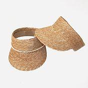 Аксессуары handmade. Livemaster - original item Straw visor. Handmade.