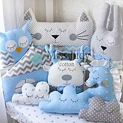 Для дома и интерьера handmade. Livemaster - original item Bumpers animals for cots. Handmade.