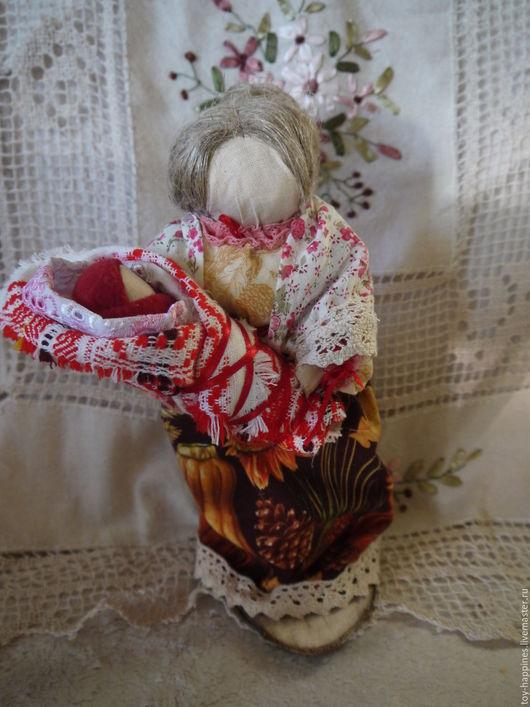 Коллекционные куклы ручной работы. Ярмарка Мастеров - ручная работа. Купить Бабушка с внучкой. Handmade. Белый, кукла интерьерная, текстиль