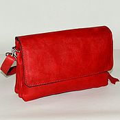 Сумки и аксессуары handmade. Livemaster - original item Leather bag red