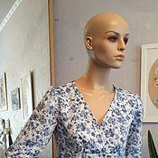 Платья ручной работы. Ярмарка Мастеров - ручная работа летнее платье из батиста. Handmade.