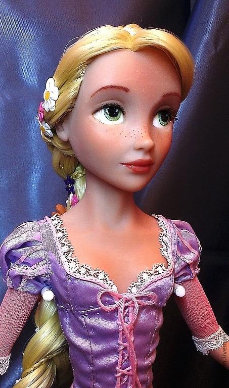 Коллекционные куклы ручной работы. Ярмарка Мастеров - ручная работа. Купить Рапунцель 2. Handmade. Сиреневый, ЛивингДолл