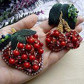 Украшения handmade. Livemaster - original item Brooches berries handmade. Handmade.