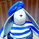 Куклы Тильды ручной работы. Кукла сувенир  Кролик ВДВ. Наталья (podlipki-klub). Интернет-магазин Ярмарка Мастеров. Вдв