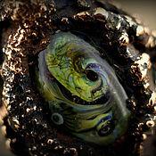 """Украшения ручной работы. Ярмарка Мастеров - ручная работа """"Цветок папоротника"""" кольцо лэмпворк+гальваника. Handmade."""