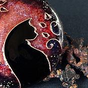 """Украшения ручной работы. Ярмарка Мастеров - ручная работа Брошь """"Чёрный кот — дитя ночи"""" Хэллоуин. Handmade."""