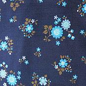 Материалы для творчества ручной работы. Ярмарка Мастеров - ручная работа Хлопок с голубыми цветочками. Handmade.