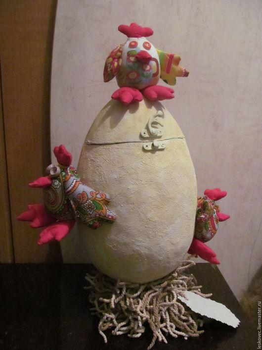 Яйца ручной работы. Ярмарка Мастеров - ручная работа. Купить Яйцо с цыплятами-шкатулка. Handmade. Купить подарок, год петуха, винтаж