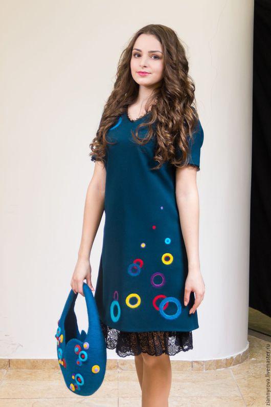 """Платья ручной работы. Ярмарка Мастеров - ручная работа. Купить Платье """"Волна"""". Handmade. Платье, шерсть 100%"""