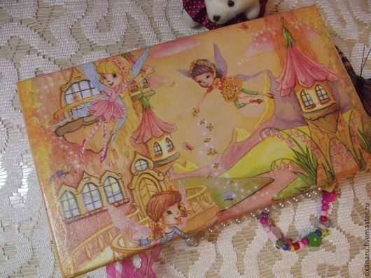 """Детская ручной работы. Ярмарка Мастеров - ручная работа. Купить Шкатулка """" Цветочные Феи"""". Handmade. Коралловый, шкатулка для девочки"""