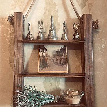 Для дома и интерьера ручной работы. Ярмарка Мастеров - ручная работа Подвесная полка на канате. Handmade.