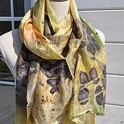 """Аксессуары ручной работы. Ярмарка Мастеров - ручная работа шелковый шарф """"Предчувствие  осени"""". Handmade."""