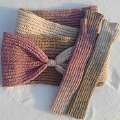 Аксессуары handmade. Livemaster - original item Kit Snood mittens Candy. Handmade.