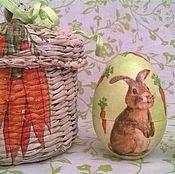 """Подарки к праздникам ручной работы. Ярмарка Мастеров - ручная работа Яйцо-матрешка """"Пасхальный заяц"""". Handmade."""