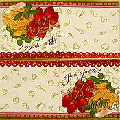 Материалы для творчества handmade. Livemaster - original item 11pcs napkins for decoupage food vegetables spaghetti kitchen. Handmade.